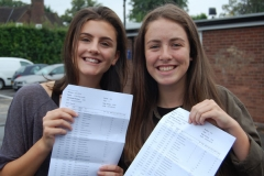 Chloe Addis and Leah Robinson celebrate after As and A stars littered their results