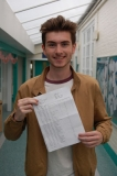 Joe Cardoza celebrates his haul of top grades