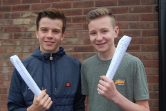 Zack Monks and Sam Blackburn get ready for sixth form life at wellington