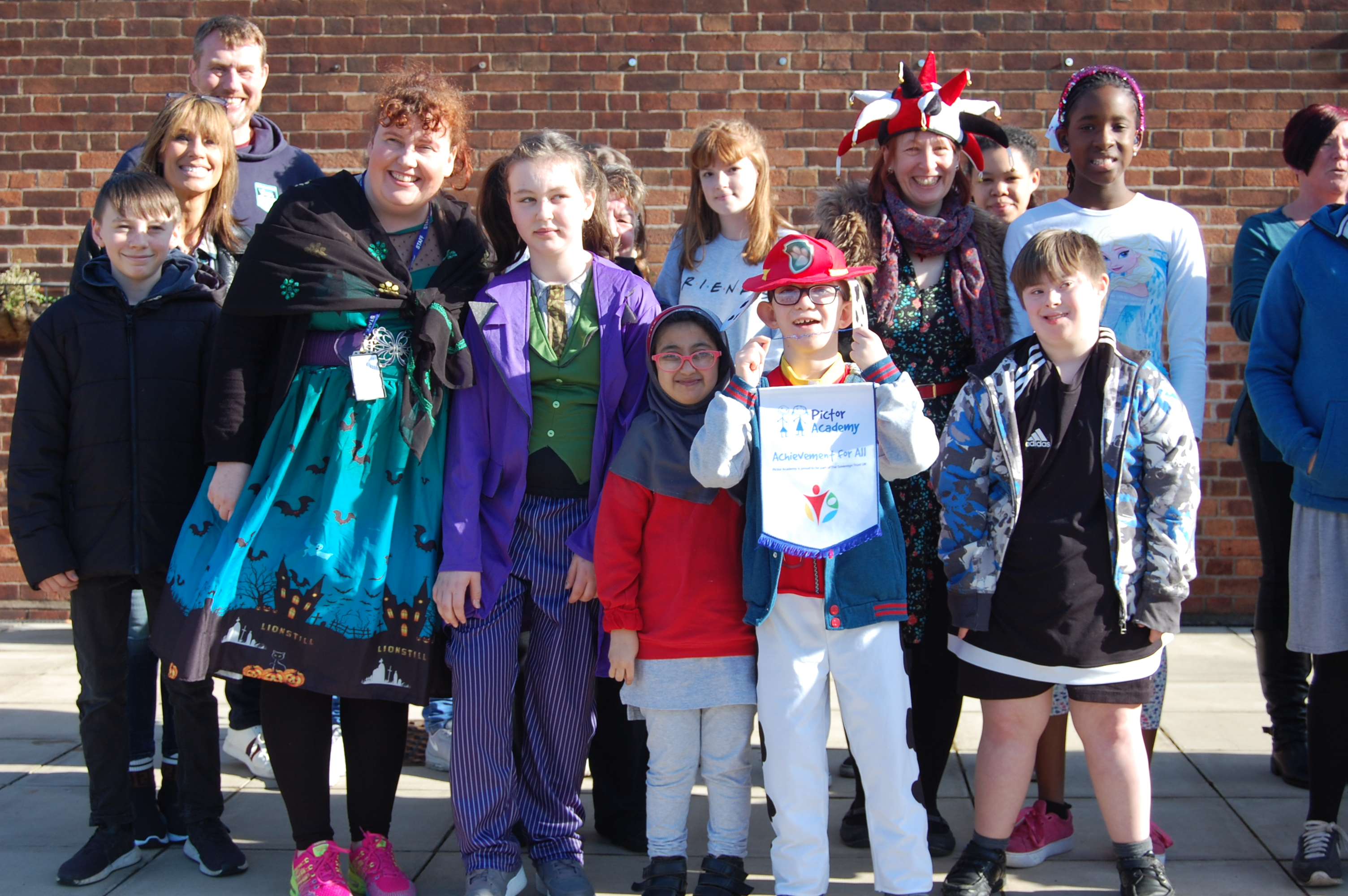 Pupils from Pictor Academy were happy to join the walk