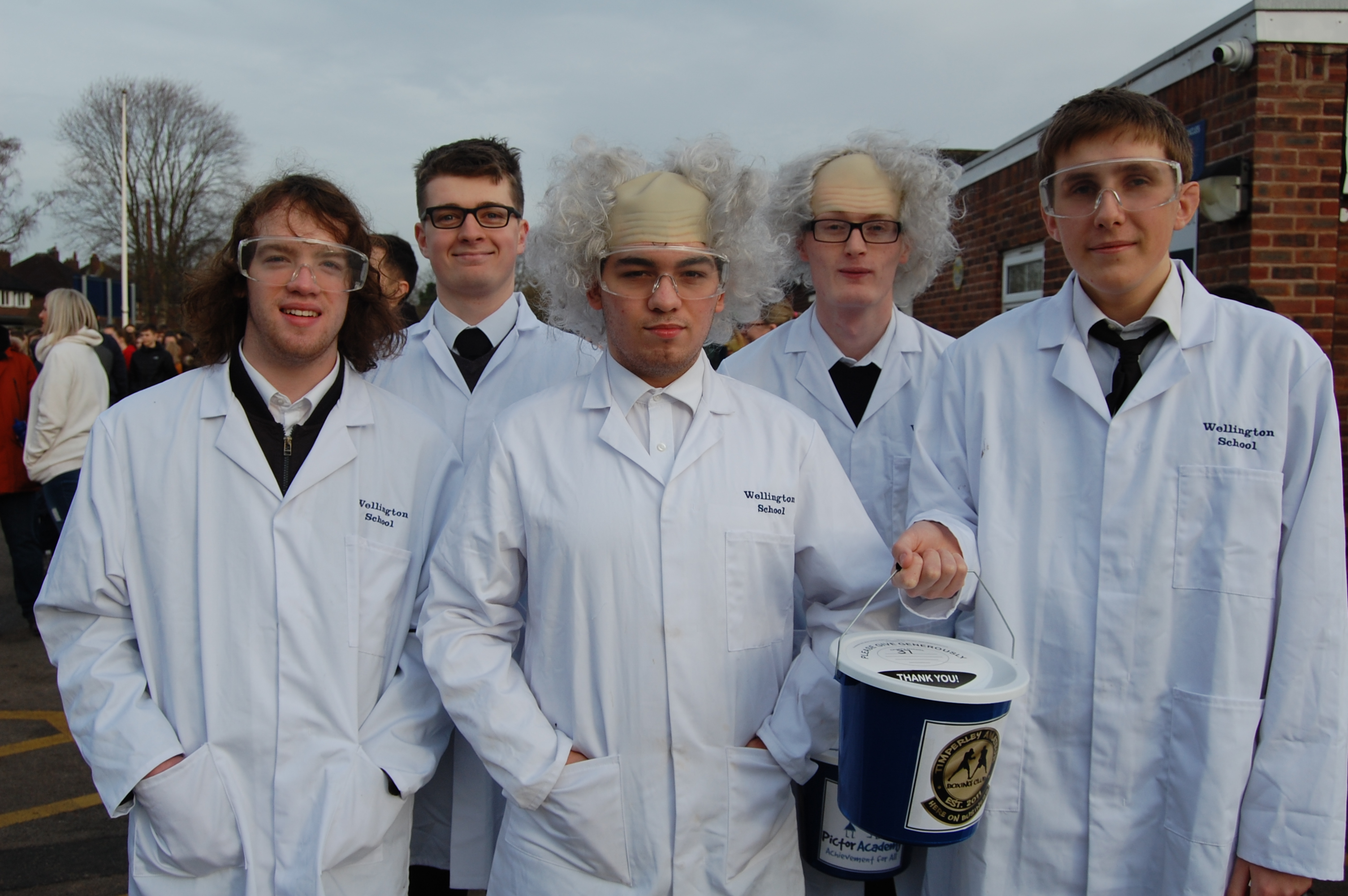 Wellington Sixth Formers dressed up for the occasion