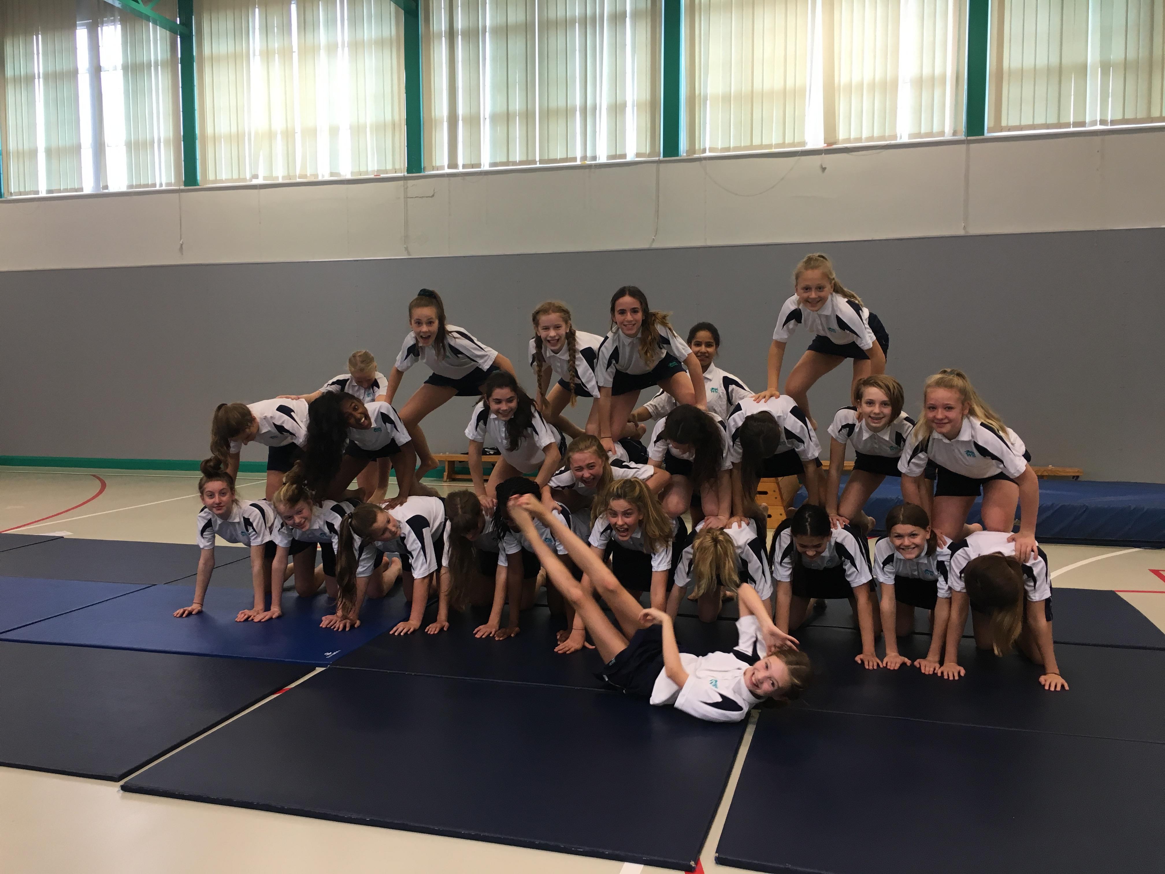 year 8 gymnastics pyramid - Wellington School